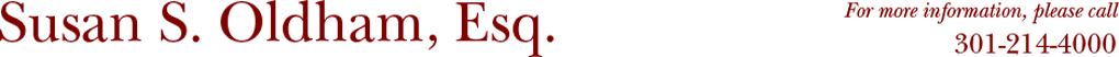 Susan S. Oldham, Esq. logo